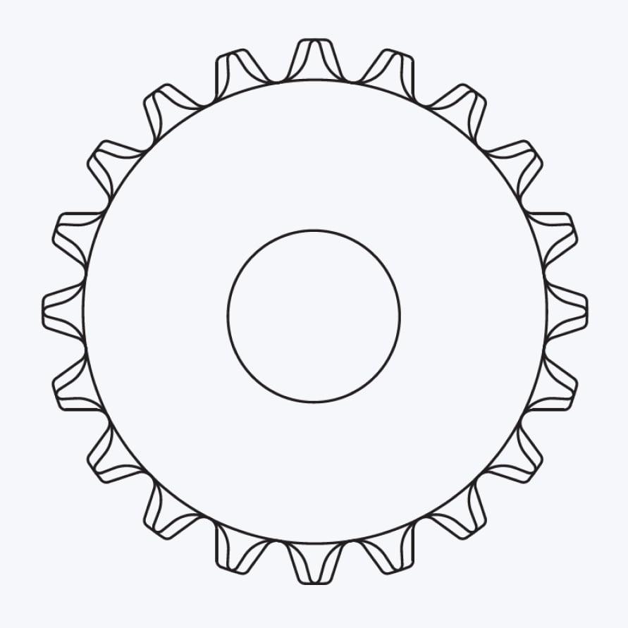 Схема звезды для круглого вала без шпоночного паза