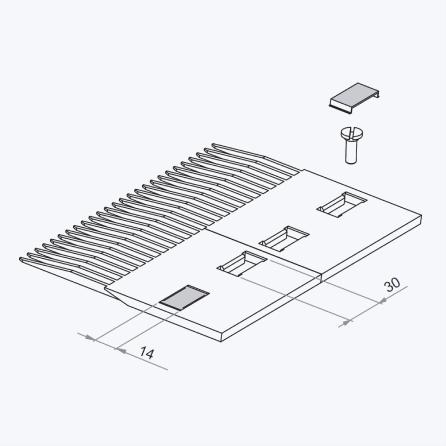 Схема звезды для круглого вала со шпоночным пазом